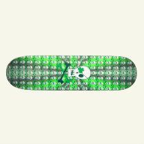 St. Patrick's Day Pirate Skateboard