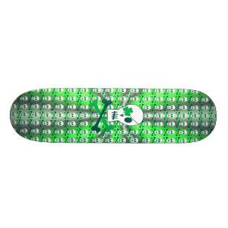 St. Patrick's Day Pirate Skate Board
