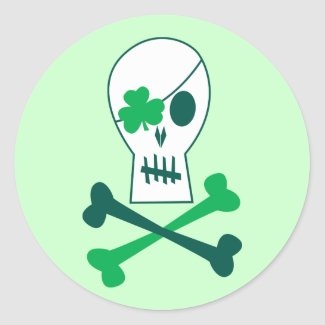 St. Patrick's Day Pirate sticker