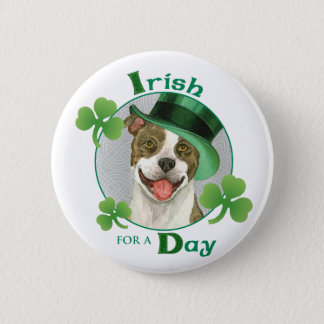 St. Patrick's Day Pit Bull Pinback Button
