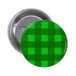 St. Patrick's Day Plaid Button