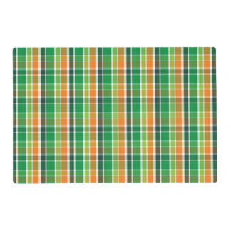 St. Patrick's Day Plaid (orange and green) Placemat