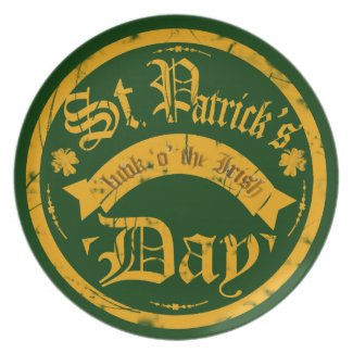 St Patrick's Day Plate
