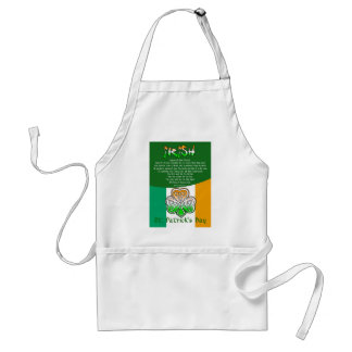 St. Patrick's Day Poetry Adult Apron