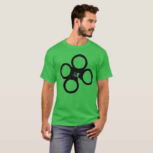 06fdda94c st. patricks day police handcuff clover T-Shirt