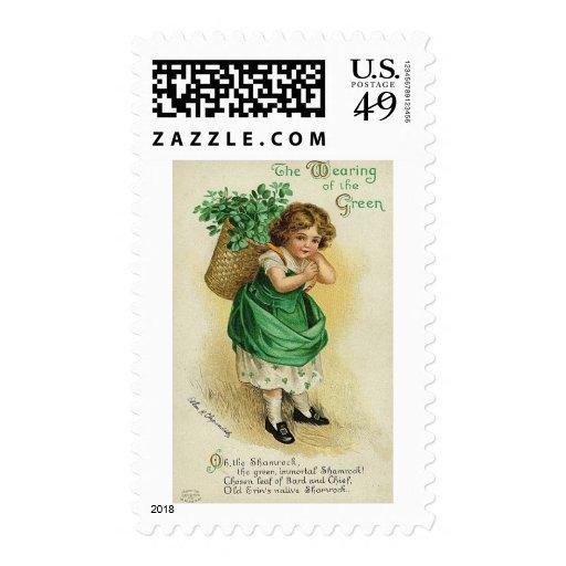 St. Patrick's Day Postage Stamp