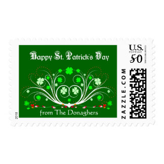 St. Patricks Day Postage Stamp - Personalized