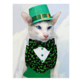 St Patrick's Day Postcard by Skeezix the Cat