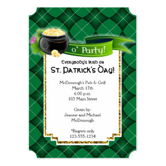 St. Patricks Day Pot of Gold Party Invitation