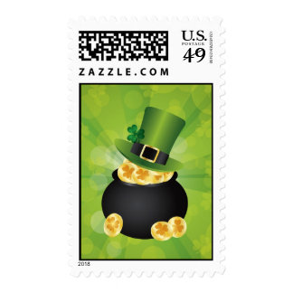 St. Patrick's Day Pot of Gold Postage