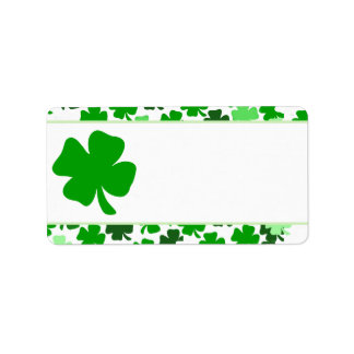 St. Patrick's Day Print your Own Mailing Label