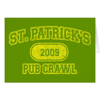 St Patricks Day Pub Crawl Card