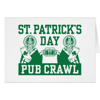 St. Patrick's Day Pub Crawl Card