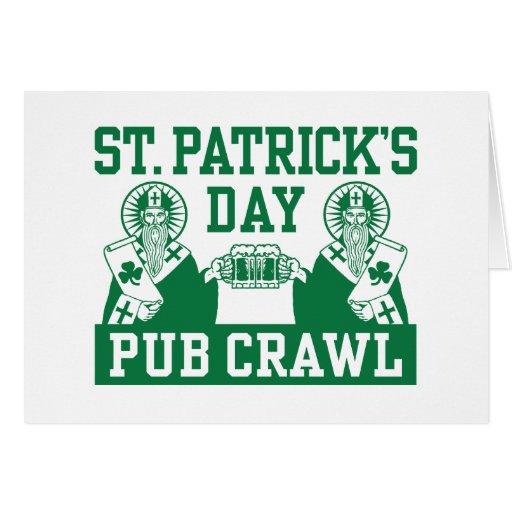 St. Patrick's Day Pub Crawl Cards
