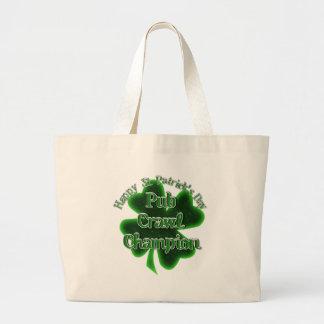 St Patrick's Day Pub Crawl Champion Canvas Bag