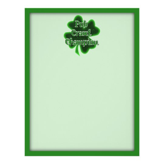 St. Patrick's Day Pub Crawl Champion Flyer