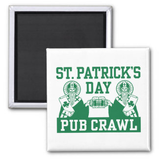 St. Patrick's Day Pub Crawl 2 Inch Square Magnet