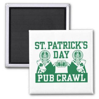 St. Patrick's Day Pub Crawl Magnet