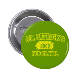 St Patricks Day Pub Crawl Pinback Button