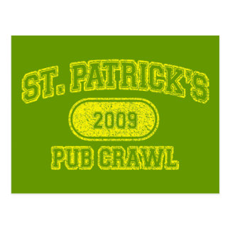 St Patricks Day Pub Crawl Postcard