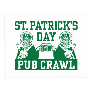 St. Patrick's Day Pub Crawl Postcard