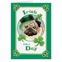 St. Patrick's Day Pug Card