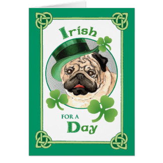 St. Patrick's Day Pug Card