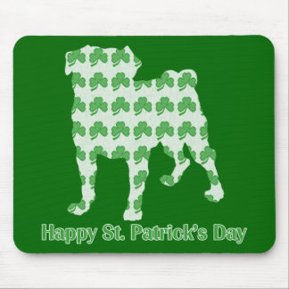 St. Patrick's Day Pug Mousepads
