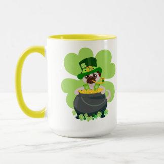 St. Patrick's Day Pug - Personalize Mug