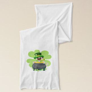 St. Patrick's Day Pug - Personalize Scarf