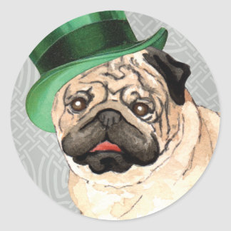 St. Patrick's Day Pug Stickers