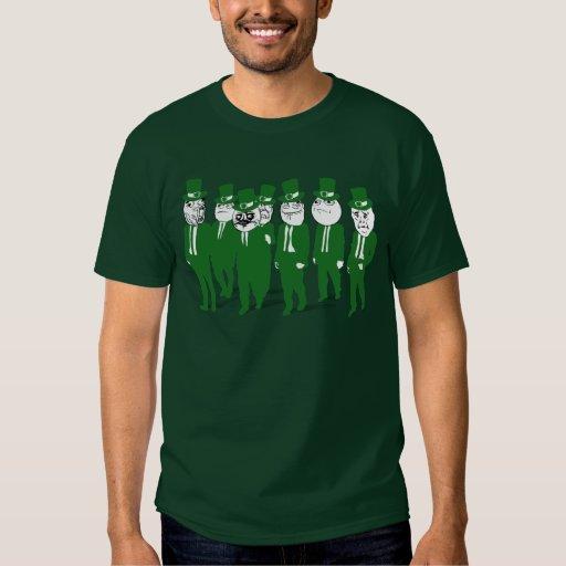 St Patrick's Day Rage Face Meme Shirt