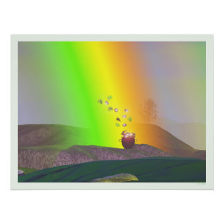 St. Patrick's Day - Rainbow Gold Poster
