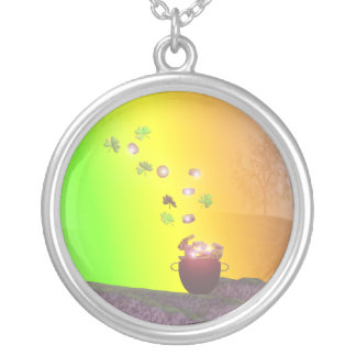St. Patricks Day Rainbow Gold Silver Plated Necklace