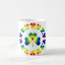 St. Patrick's Day Rainbow Irish | Lucky Shamrocks Coffee Mug
