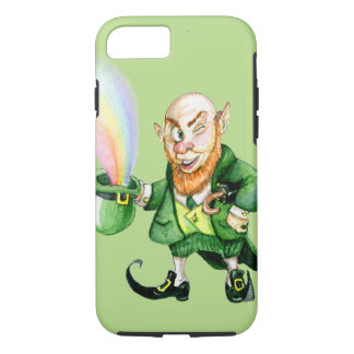 St. Patrick's Day rainbow leprechaun iPhone 8/7 Case