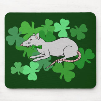 St. Patrick's Day Rat Mouse Pad