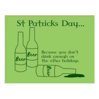 St Patrick's Day Recipe Postcard