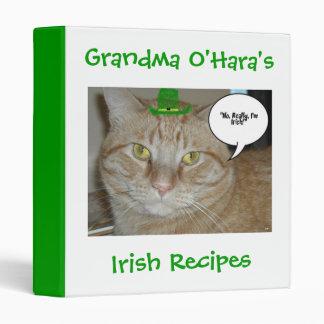 St Patricks Day Recipes 3 Ring Binder