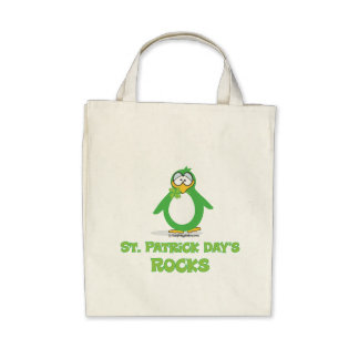 St Patrick's Day Rocks Canvas Bags