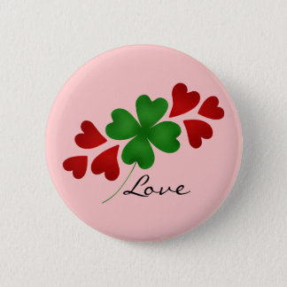 St Patricks day | Romantic shamrock hearts Pinback Button
