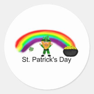St Patrick's Day Round Stickers
