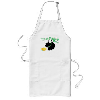 St Patrick's Day Scottish Terrier Long Apron