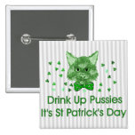 St Patrick's Day Scrapper Cat Buttons