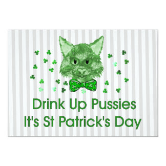 St Patrick's Day Scrapper Cat Custom Invite