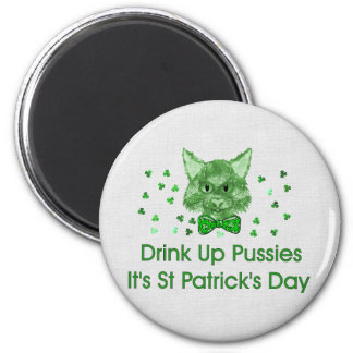 St Patrick's Day Scrapper Cat Magnet
