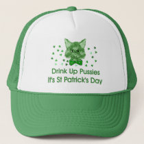 St Patrick's Day Scrapper Cat Trucker Hat