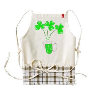 St. Patrick's Day Secrets of brewing Zazzle HEART Apron
