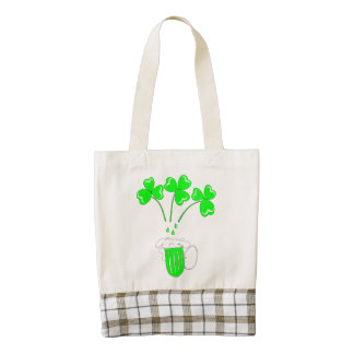St. Patrick's Day Secrets of brewing Zazzle HEART Tote Bag