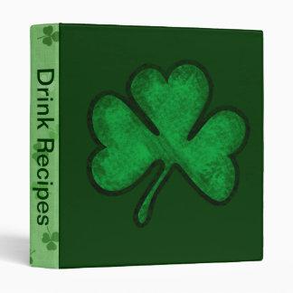 St. Patrick's Day Shamrock 3 Ring Binder